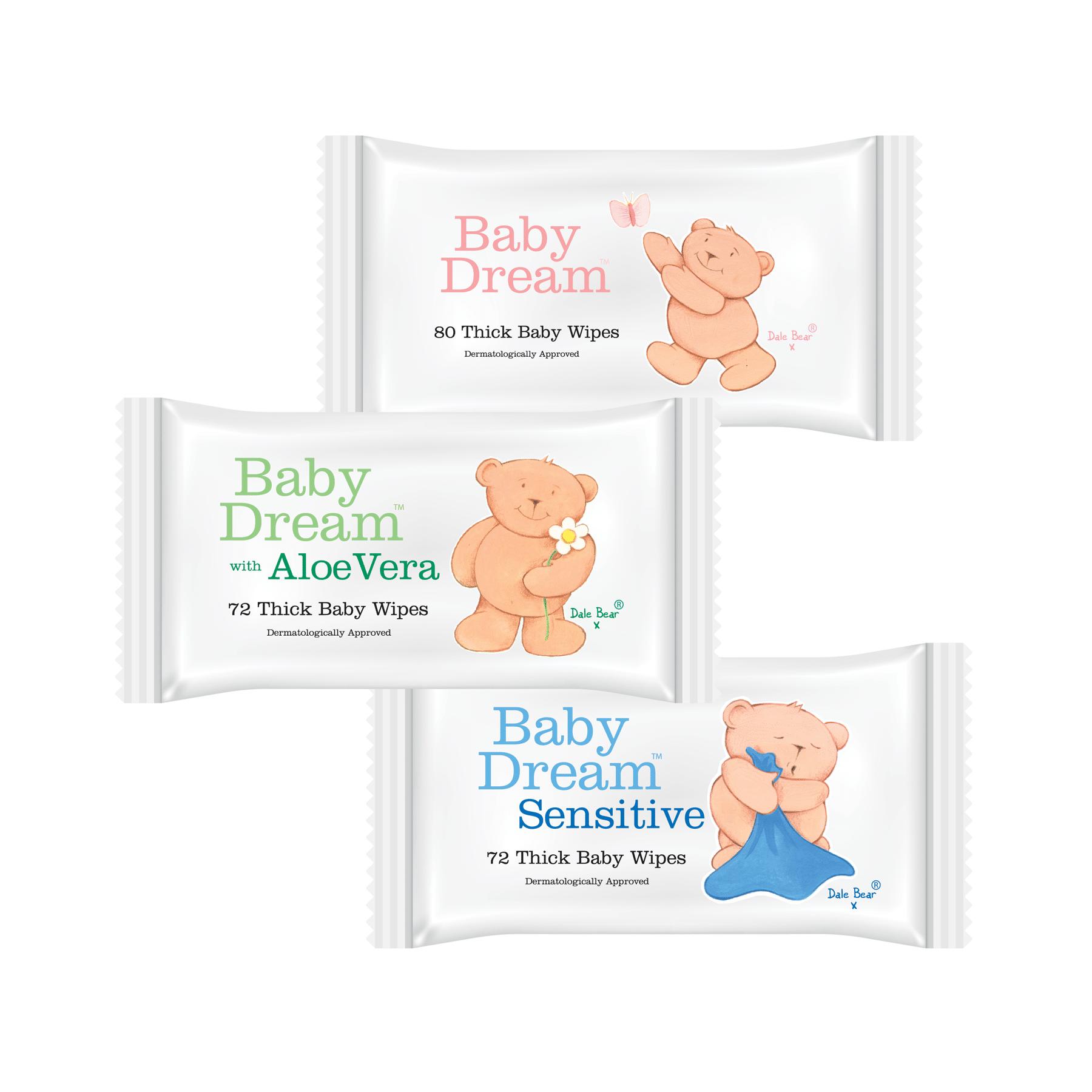 Baby Dream Wipes Packaging